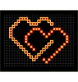 valentine coloured pixel hearts couple vector image