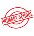 primary school rubber stamp vector image