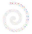 percent fireworks spiral vector image
