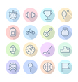 Thin Line Icons For Sport vector image