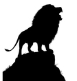 Lion roar vector image vector image
