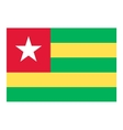 Togo flag vector image