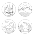 Nature Landscapes Logo Outdoor Life Symbol Lake vector image