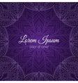 Invitation card with lace frame vector image