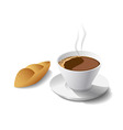 morning coffee and cake vector image vector image