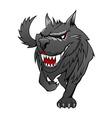 danger wolf vector image vector image