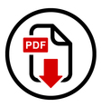 PDF file download simple icon vector image