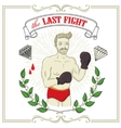 Fighter Tattoo-art design vector image vector image