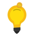 Bulb or big idea isolated flat icon vector image