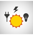 electricity power icon vector image