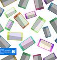 Flat smartphones pattern background vector image