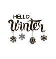 hello winter text vector image