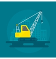 Lifting Crane Flat vector image