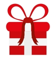 Red gift with bow icon vector image