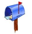 Mailbox cartoon icon vector image vector image