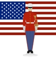 US Military Band Musician-1 vector image vector image