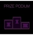 Prize Podium Image vector image
