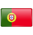 Flags Portugal in the form of a magnet on vector image