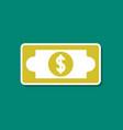 paper sticker on stylish background dollar money vector image