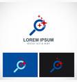 star search icon logo vector image