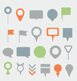 Navigation pins collection vector image vector image