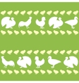 Seamless pattern with farm birds silhouettes vector image vector image