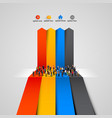 people crowd on the graph vector image