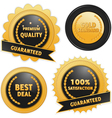 Label badges in black and gold vector image vector image