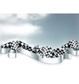 Checkered flags background vector image
