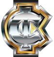 Fancy cent symbol vector image