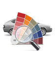 Color Palette for Car vector image