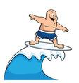 cartoon surfer vector image