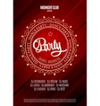 Dance party poster and flyer background vector image