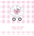 baby carriage with a teddy bear vector image