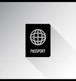Passport icon vector image vector image