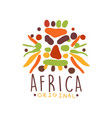 african ethnic tribal logo vector image