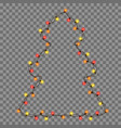 christmas new year lights vector image