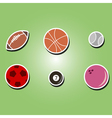 color icons with sports balls vector image