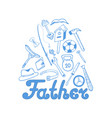 fathers day instruments sports equipment vector image