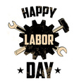 Happy labor day vector image
