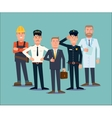 Professions people set Flat vector image