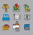 travel stickers and badges set vector image