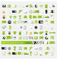 Set of football stickers vector image