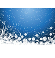 snowflake background 1511 vector image vector image