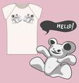 strange bear T shirt vector image vector image