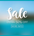 sale mobile banner template vector image