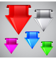 Labels made in the shape of the arrow set vector image vector image
