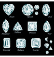 Diamond cut set vector image