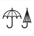 Two Umbrellas vector image