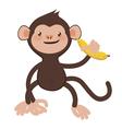 Monkey with banana vector image vector image